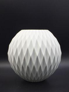 Thomas white bisque porcelain vase.