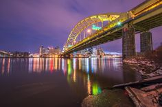 """An early morning view of the Ft. Pitt Bridge in Pittsburgh. Photo credit: Dave DiCello"