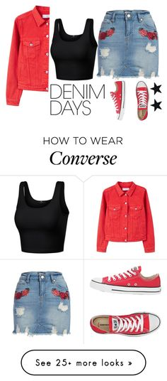 """Untitled #251"" by holly-barrans on Polyvore featuring Dollhouse, MANGO, Converse and denimskirts Outfits With Converse, Cute Outfits, White Jumpsuit, Inspired Outfits, Polyvore Outfits, Classic Looks, School Outfits, Baddie, Beautiful Outfits"