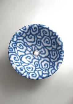 Countertop ceramic #washbasin DÉCO BOLL by Ceramica FLAMINIA | #design Paola Navone #blue