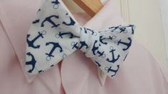Nautical Anchor Bow Tie! Looks great with this pink shirt! Anchors Away!