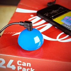 The Mighty BoomBall Speaker dispenses with the container altogether, meaning that it can be hung on a keyring or simply put in your pocket. Then, whenever you need to pump up the jams, you can just stick it to any nearby object and transform it into a speaker.