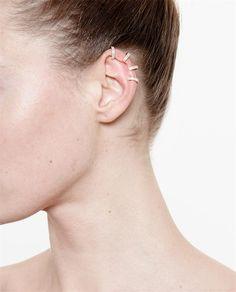 REPOSSI 18k Rose Gold and Diamond Ear Cuff