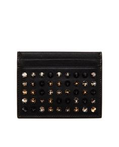 Christian Louboutin ~ Studded Leather Card Holder