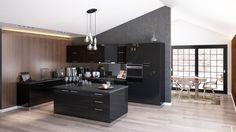 Luxury Kitchen Furniture - super glossy black acrylux - fronts, soft close systems. Modular furniture - chose from a wide range of cabinets, so you can configurate any kitchen space.  Mobilier de bucatarie - gama de lux, fronturi - acrylux negru super lucios, sisteme de inchidere cu amortizare. Mobilier modular - se pot alege dintr-o gama variata de corpuri cu dimensiuni diferite, fiind foarte usor de mobilat spatiul oricarei bucatarii in functie de nevoile clientului.