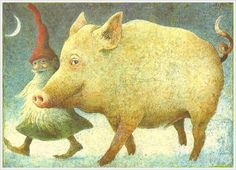 Gnome and pig friend...