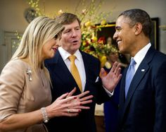 Queen Maxima, King Willem-Alexander, President Obama.   Telegraaf.nl