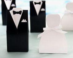 Caixa vestido de noiva e smoking