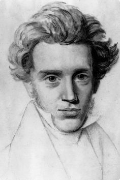 Side note: Am I the only one who thinks Kierkegaard was a total babe? Danish philosopher and father of existentialism, Søren Kierkegaard.