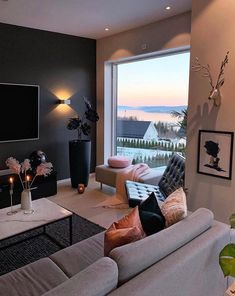 best design apartment small living room decor ideas tht make you cozy 34 Small Living Rooms, Home Living Room, Apartment Living, Living Room Decor, Modern Living, Living Spaces, Interior Design Living Room, Living Room Designs, Interior Livingroom