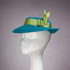 Ladies Vintage Style Hat 1930s 1940s Teal by HouseofNinesDesign