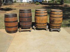Beautiful genuine whiskey barrels!