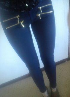 Kup mój przedmiot na #vintedpl http://www.vinted.pl/damska-odziez/rurki/9453217-nowe-granatowe-spodnie