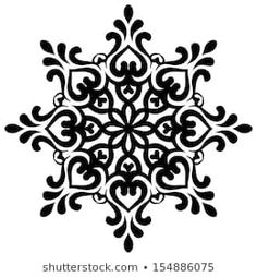 Vector Snowflake For Your Design - Mandala Stencils, Stencil Patterns, Stencil Painting, Stencil Designs, Mandala Art, Motifs Islamiques, Logo Floral, Crochet Snowflake Pattern, Bohemian Pattern