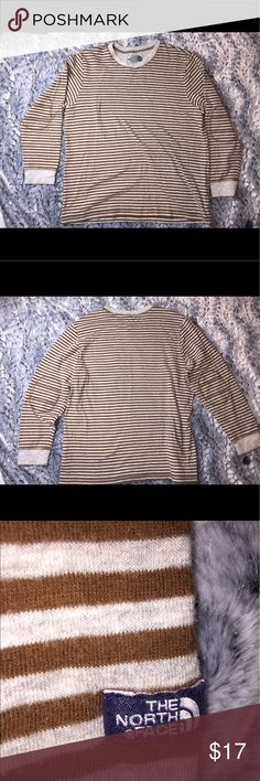 The North Face Men's Striped Long Sleeve The North Face Men's Striped Long Sleeve, Size XL, Pre Owned Condition With Minor Piling, Length 29 Inches, Armpit to Armpit 24.5 Inches The North Face Shirts Tees - Long Sleeve
