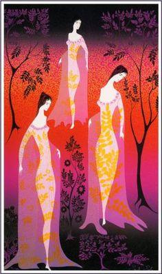 In a gothic garden - Eyvind Earle