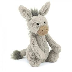 Jellycat Bashful Donkey - Medium 28cm  Soft Jelly Cat Plush Teddy on Yellow Octopus #giftsforkids #gifts #jellycat #bashful #donkey #medium28cm soft #jellycat #plush #teddy