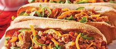 Petits Pains Mexicains à la Viande Hot Dog Buns, Hot Dogs, Pain Garni, Mexican Food Recipes, Ethnic Recipes, Tex Mex, Fajitas, Sandwiches, Tacos