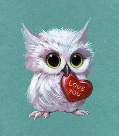 2019 New Arrival Cartoon Animals Muur Diamond Painting / Diamant . - 2019 New Arrival Cartoon Animals Muur Diamond Painting Embroidery Owl Set - Owl Artwork, Art Mignon, Owl Pictures, Owl Pics, Owl Cartoon, Beautiful Owl, Bird Illustration, Cute Birds, Baby Owls