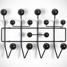 Eames Hang It All Black Coat Rack