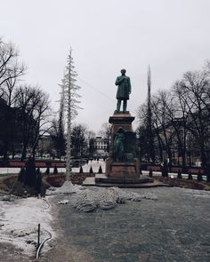 """I entitled this week: """"be wise be free."""" So many commitments but lots of inspirations! @docpoint is my headquarters for these days. Watching documentaries opens up your mind and your view. . . . #traveldeeper #worldnomads #meditation #tourguide #helsinki #traveling #travelling#discover #statue #finland #winter #landscaper #landscapelovers #photographs#photography #photographer #photos#natgeophotos #travelpic #walking #forest #travels #foto #fotografia #myhelsinki#city #winterwonderland"""