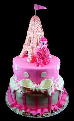 French Poodle cake- another possible theme for lizzy's next birthday!