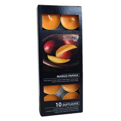 Scented Nightlights - orange - 10 Per Pack Jam Jar, Nightlights, Tea Lights, Mango, Fragrance, Packing, Candles, Fruit, Bottle