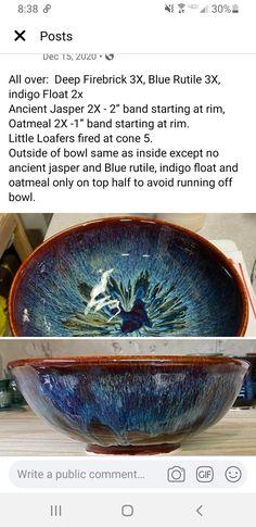 Glazes For Pottery, Ceramic Pottery, Ceramic Glaze Recipes, Amaco Glazes, Color Tile, Pottery Ideas, Clay Projects, Ceramic Bowls, Decorative Bowls