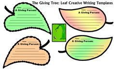 The Giving Tree Fun Leaf Shaped Creative Writing Templates Shel Silverstein