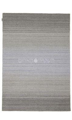 Gray Blue Handmade Wool Flat Weave Rug