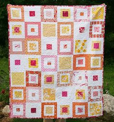Lemon Squares Quilt Pattern   FaveQuilts.com