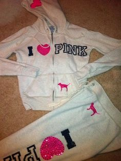 Victoria's Secret PINK Hoodie & Sweatpant. Love these, becoming more and more obsessed with Victoria's Secret clothes!