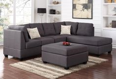 674.75. @Pc Sofa With Chaise End Plus Bonus FREE Ottoman, Perfectly compact for a smaller space home or apartment. But this 2Pc sectional sofa with chaise end does have all the comfort you'll ever need along with t