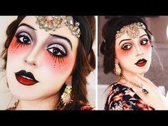 Costume Halloween, Halloween Looks, Girl Halloween, Halloween Face Makeup, Halloween Tattoo, Easy Halloween, Circus Costume, Makeup Vintage, 1920s Makeup