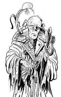 PreEdénicos 01, tinta china, pincel y plumín sobre papel de bocetar, 21,5 x 33,5 cm, 2014 Diseño para una historia del escritor santafesino Gonzalo Geller