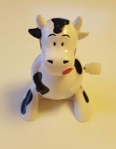 Cow with clockwork design. Wind up this cow, and it moves forward. A great toy for children and also a perfect collectible gift for adult. | eBay!