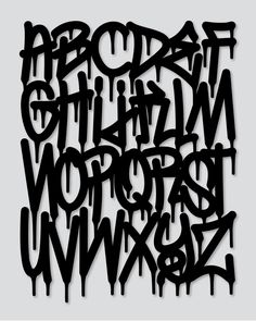 13 Graffiti Paint Drip Font Images - Graffiti Dripping Letter Font, Dripping Graffiti Letters and Paint Dripping Graffiti Font Free Graffiti Tattoo, Graffiti Lettering Fonts, Graffiti Quotes, Graffiti Cartoons, Tattoo Lettering Fonts, Lettering Styles, Calligraphy Tattoo, Graffiti Lettering Alphabet, Islamic Calligraphy