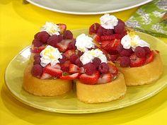 BLCC: Berries, Lemon Curd Cakes from Rachel Ray