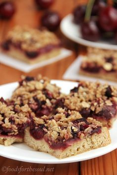 Cherry Crumble Bars | by Foods for the Soul Pretty ding dang good!