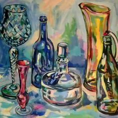 Kirsty Taylor Art Still Life, Glass, Painting, Art, Illustrations, Art Background, Drinkware, Corning Glass, Painting Art