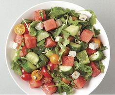 Tomato and Watermelon Salad with Feta by Fine Cooking