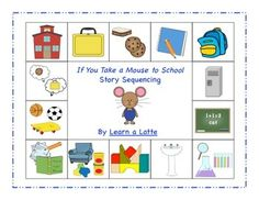 This set is perfect for retelling the story If You Take a Mouse to School!