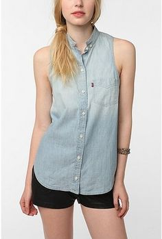 UrbanOutfitters.com > Levi's Daphne Sleeveless Button-Down Shirt