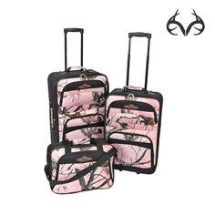 #NEW #realtreePink #Camo 3-pc #Luggage $107.99