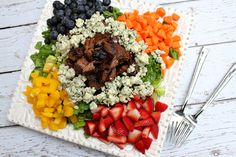 Grilled Steak Chopped Summer Salad