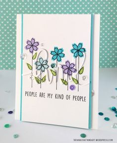 Kind People Are My Kind of People #handmade card. Used #concordand9th Kind Hearted stamp set and Kind Frame Add-On die.