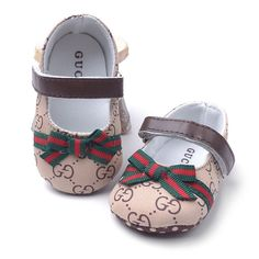 Baby Gucci inspired ballets Made with 100% great quality Closure type: hook and loopPre order (brown) grey is in STOCK