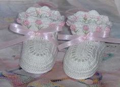 Crochet Tulip Baby Booties by mycrochetboutique on Etsy, $7.50  These cute little booties will make a great baby shower gift for an expecting mother. They are hand crocheted from 100% cotton thread and are perfect for a dressy occasion or everyday wear. They measure 3.25 inches from heel to toe. They are available with pink, red, blue or lilac tulips. This is a custom order only. Please allow 2 days for item to be completed.