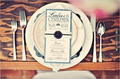 elegant menu by Vintage Invites | VIA #WEDDINGPINS.NET