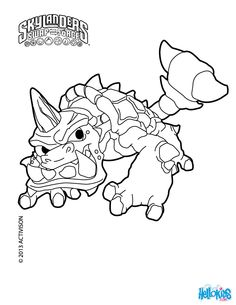 Slobber Tooth Coloring Page Free Printable Skylanders SWAP FORCE Pages For Toddlers Preschool Or Kindergarten Children Enjoy This